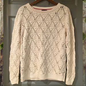 Tommy Hilfiger Crochet Sweater Size Medium